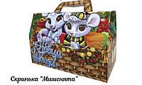 """Новогодняя коробка для конфет 1000г """"Мишенята"""""""