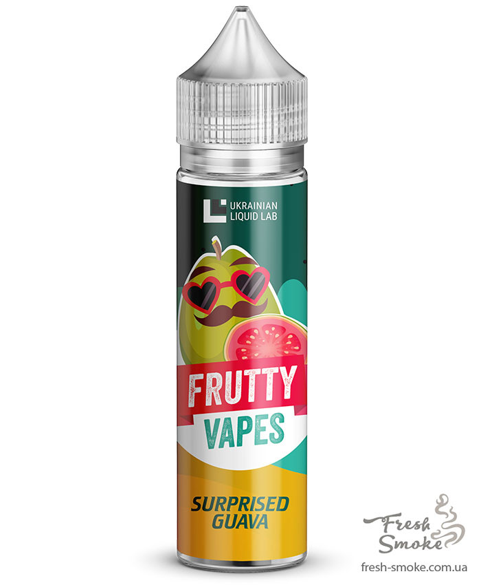Премиум Жидкость для Электронных Сигарет Frutty Vapes 60 мл Surprised Guava, 3 мг