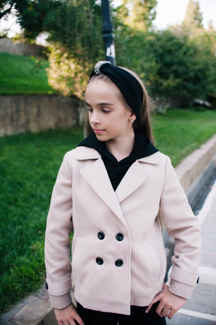 Пальто-пиджак LiLove 460-2 134 бежевый