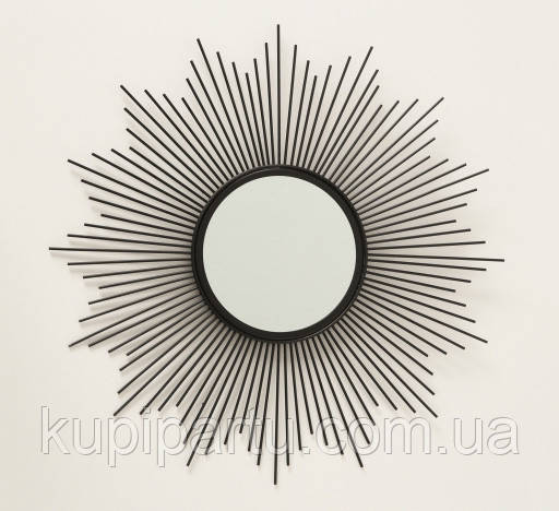 Настенное зеркало солнце Бруклин d50см металл 1017241