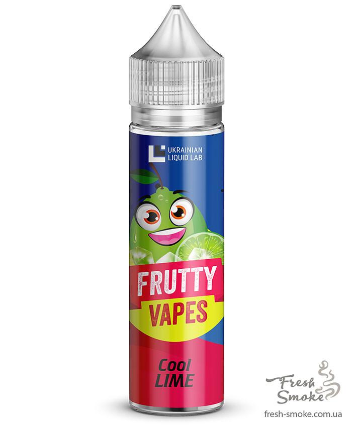 Премиум Жидкость для Электронных Сигарет Frutty Vapes 60 мл Cool Lime, 1.5 мг