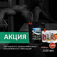 Протеин сывороточный 78% (2 кг, Венгрия) Аминокислоты BCAA 4:1:1 (0,5 кг.)