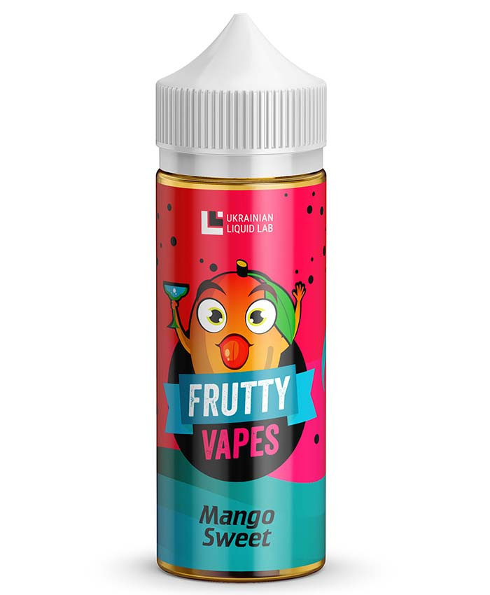Frutty Vapes 120 мл Премиум Жидкость для Электронных Сигарет Mango Sweet, 1.5 мг