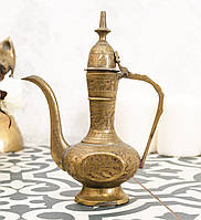 Старый индийский кофейник, кувшинчик, латунь, Индия, фото 1