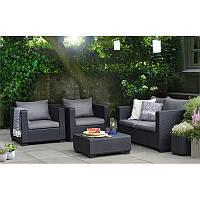 Набор садовой мебели Salta 2-Seater Lounge Set из искусственного ротанга, фото 1