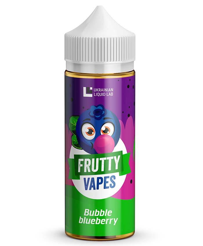 Frutty Vapes 120 мл Премиум Жидкость для Электронных Сигарет Bubble Blueberry, 1.5 мг