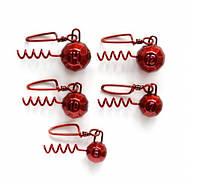 НАБОР свинцовых грузов Fanatik ШТОПОР красный (5 штук в упаковке)