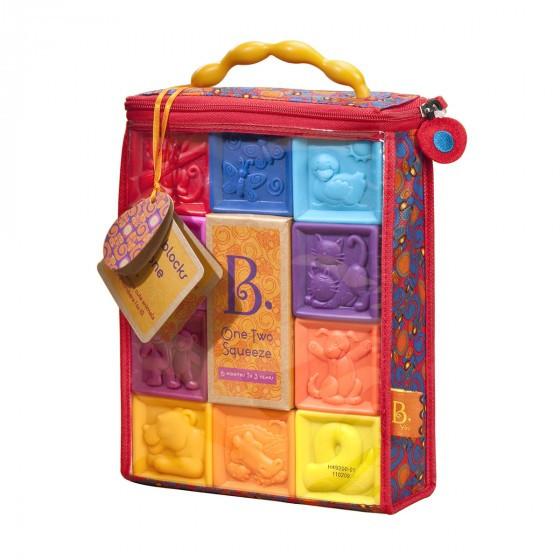 """Розвиваючі силіконові кубики """"Battat"""" - ПОРАХУЙМО (10 кубиків, у сумочці)"""