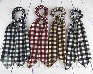 Резинка платок для волос Твилли длинна 27 см 12 шт/уп.