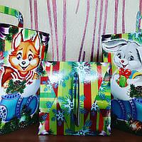 """Новогодняя подарочная коробка-упаковка на 400-500 грм """"Мишеня"""""""