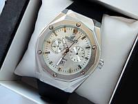 Мужские кварцевые наручные часы  Hublot (Хаблот) Big Bang geneve серебряного цвета - код 1578, фото 1