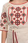 Платье-вышиванка Украиночка беж, фото 5