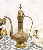 Старый восточный кофейник, кувшин индийский, латунь, Индия, фото 1