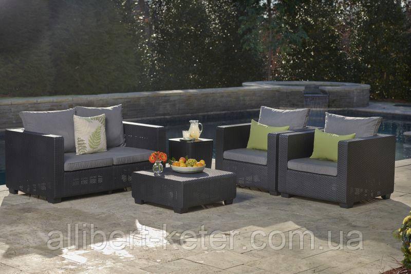 Набор садовой мебели Salta 2-Seater Lounge Set Graphite ( графит ) из искусственного ротанга