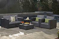 Набор садовой мебели Salta 2-Seater Lounge Set Graphite ( графит ) из искусственного ротанга, фото 1