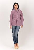 Приталенное пальто с отложным воротником темно-сиреневый 2-227