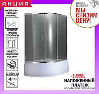 Душевая кабина 120x85 см AquaStream Simple 128 HR правая, профиль сатин, стекло матовое