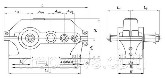 Купить редуктор цилиндрический 1Ц3У-355 в Украине
