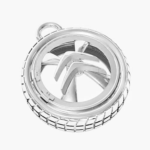 Брелок серебряный Citroen БК-9