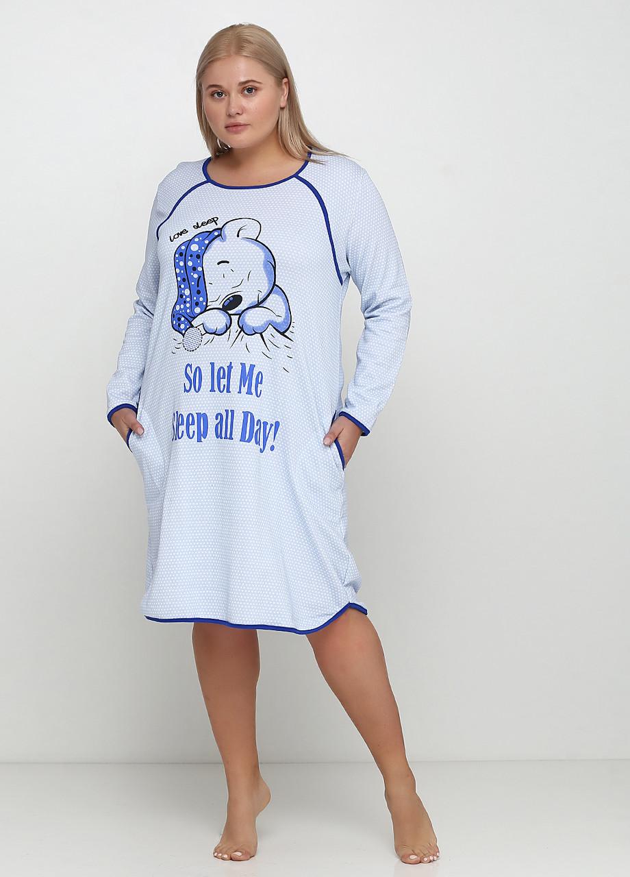 Ночная сорочка начесная с длинным рукавом