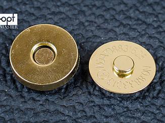 Магнит наружный для сумки 65-101-14, круглый d14 мм, цв. золото