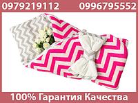 Конверт для новорожденного ребенка для детей для выписки из роддома вязаный с бязью