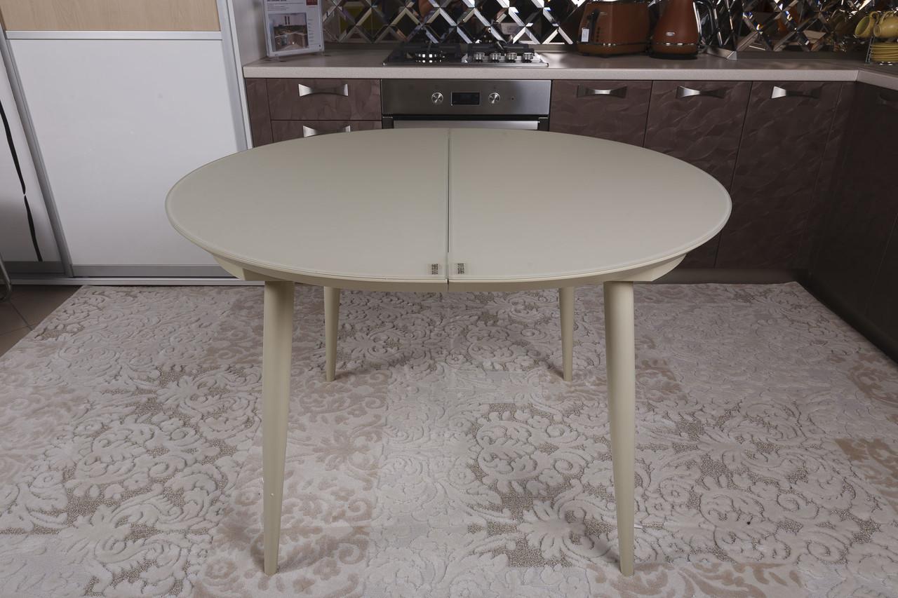 Раздвижной круглый стол GREENWICH (Гринвич) бежевый 110/140 от Niсolas