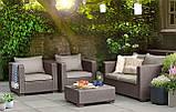 Набор садовой мебели Salta 2-Seater Lounge Set Cappuccino ( капучино ) из искусственного ротанга ( Allibert ), фото 9