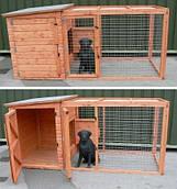 Будка с мини-вольером для собаки