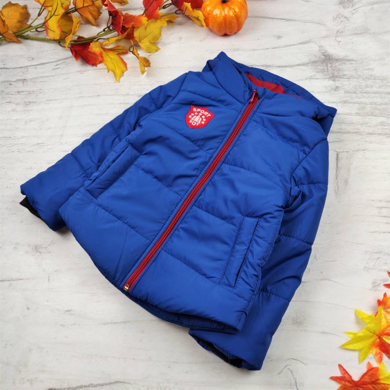 Куртка на мавльчика демисезонная с капюшоном весна/осень (86, 92, 98, 104, 110 см)