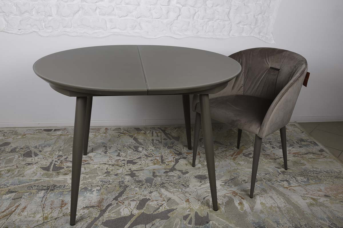 Раздвижной круглый стол GREENWICH (Гринвич) мокко 110/140 от Niсolas