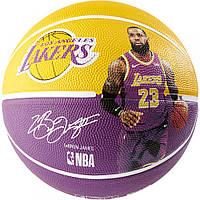 Мяч баскетбольный Spalding NBA Player Ball Lebron James Size 7