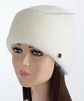 Объемная женская шапочка Vanila цвет молочный