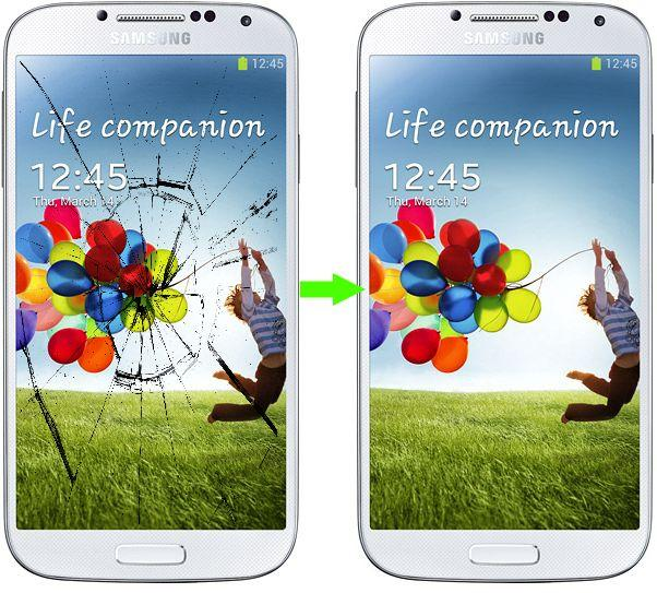 Замена стекла дисплея Samsung Galaxy S4 I9500 (цена указана вместе с запчастью)