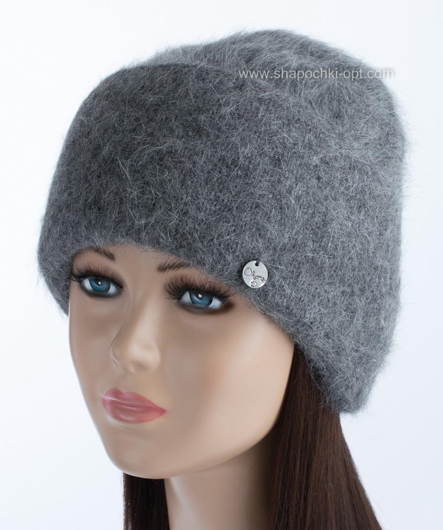 Женская шапочка с объемным отворотом Vanila цвет маренго