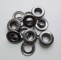 Люверс №24 - 9 мм (с шайбой) нержавеющий черный никель