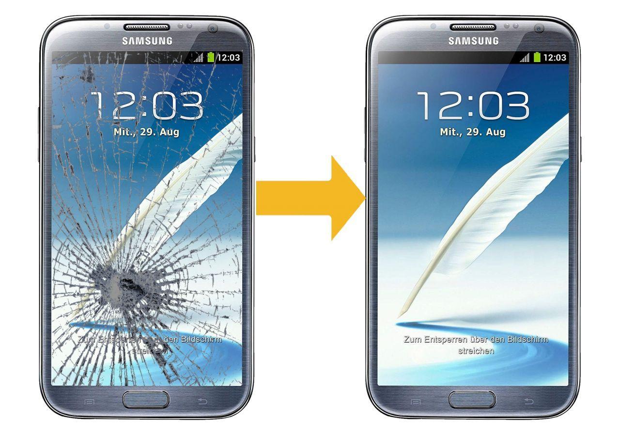 Замена стекла дисплея Samsung Galaxy Note 2 N7100, N7105 (цена указана вместе с запчастью)
