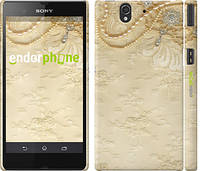 """Чехол на Sony Xperia Z C6602 Кружевной орнамент """"2160c-40"""""""