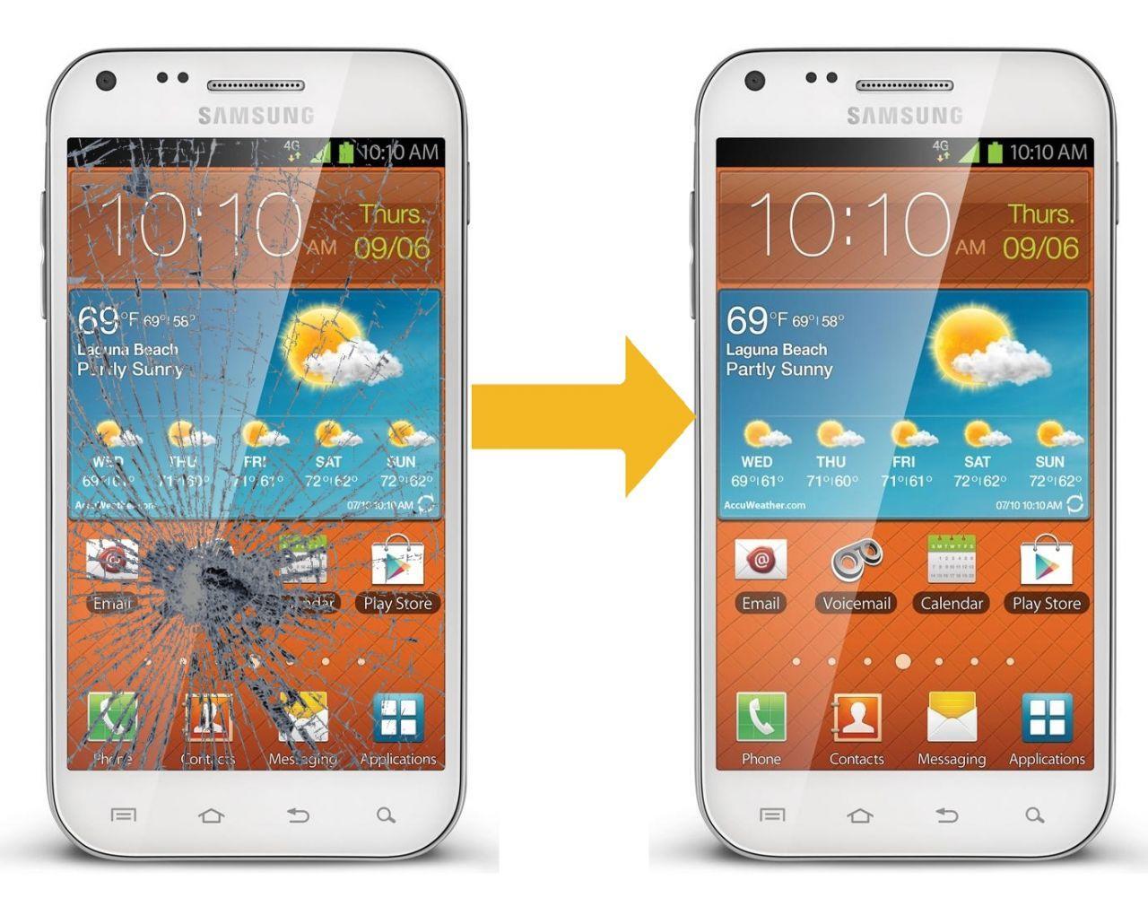 Замена стекла дисплея Samsung Galaxy S2 I9100 (цена указана вместе с запчастью)