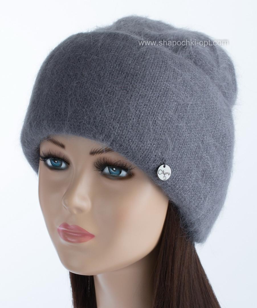 Вязаная женская шапка Vanila цвет графит