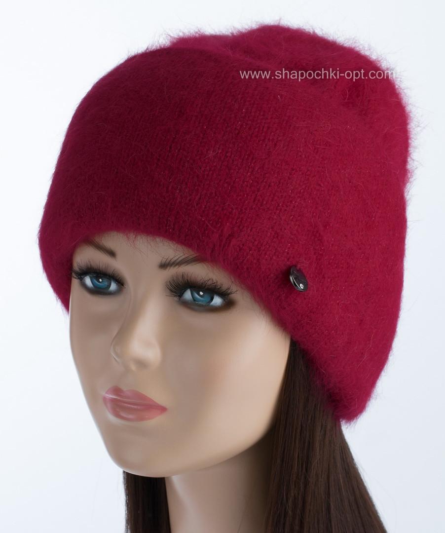 Вязаная женская шапочка Vanila цвет рубин