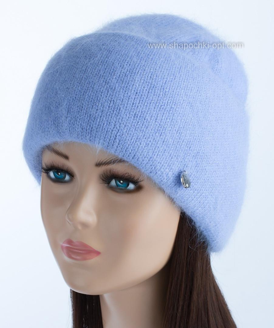 Теплая женская шапка Vanila цвет гиацинт