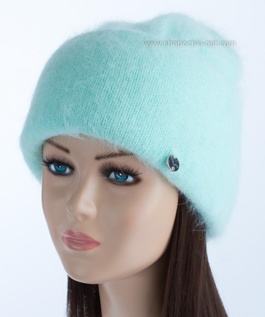 Женская вязаная шапка Vanila цвет изумруд
