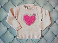 Свитер для девочки Сердце, рр. 0-1 год, фото 1