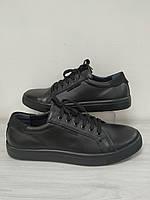 Кроссовки кожаные черные мужские GS Акция!!! - 40%, фото 1