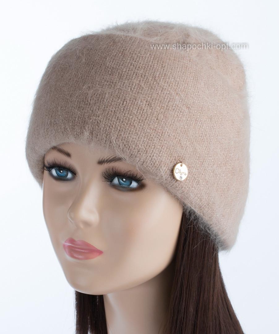 Женская вязаная шапочка Vanila цвет солома