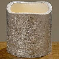 Светодиодная свеча ночник Виргиния серебряный воск h5d5см 7061800