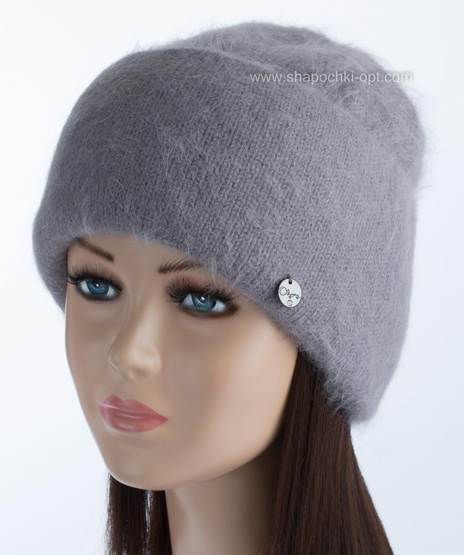 Вязаная женская шапочка Vanila цвет стальной