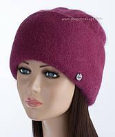 Женская вязаная теплая шапочка Vanila цвет кардинал