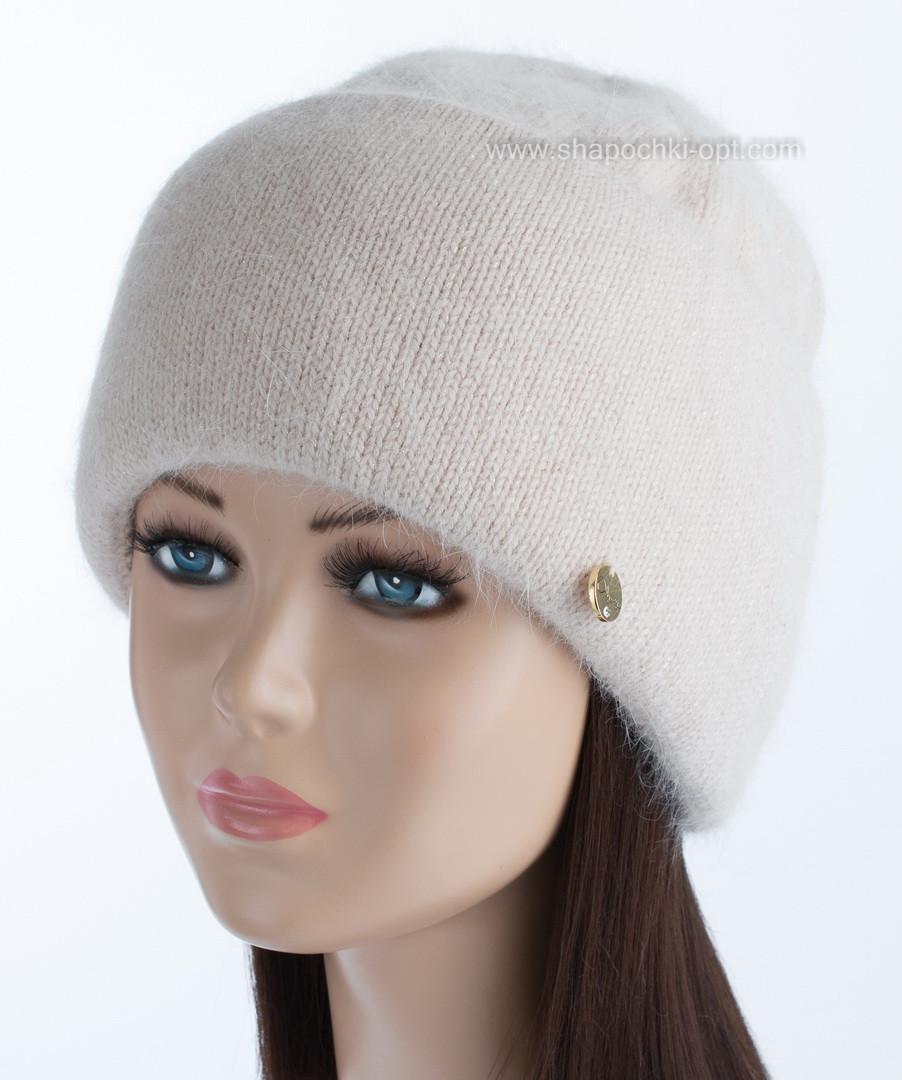 Зимняя женская шапочка Vanila цвет крем-брюле
